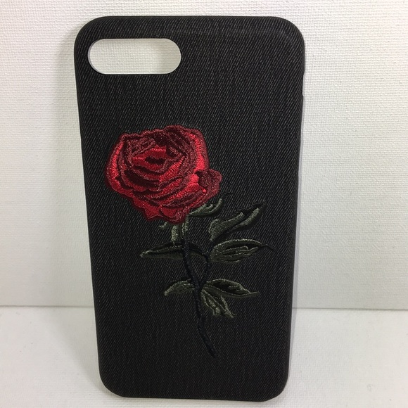 new concept 55432 6a574 iPhone 6/7/8 Plus Embroidered Rose Case. Boutique